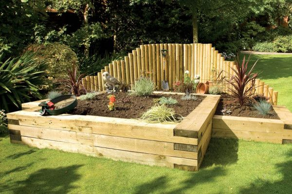 Grange jigsaw sleeper discount railway sleepers and for Garden pond design using sleepers