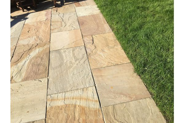 Indian Sandstone Paving - Rippon Buff - Patio Pack - Calibrated