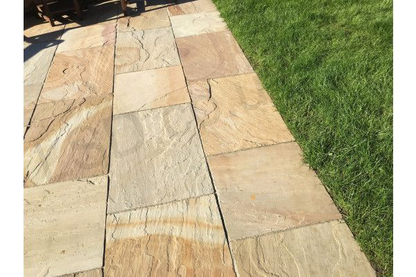Indian Sandstone Paving - Rippon Buff - Patio Packs