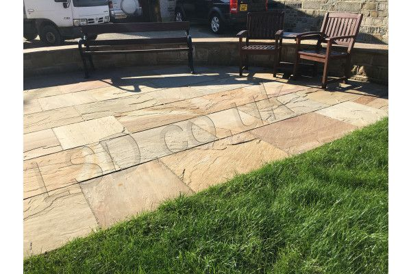 Indian Sandstone Paving - Rippon Buff - Patio Pack - Thicker Depth