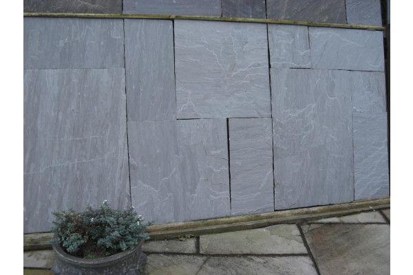 Indian Sandstone Paving - Kandla Grey - Calibrated - Patio Pack