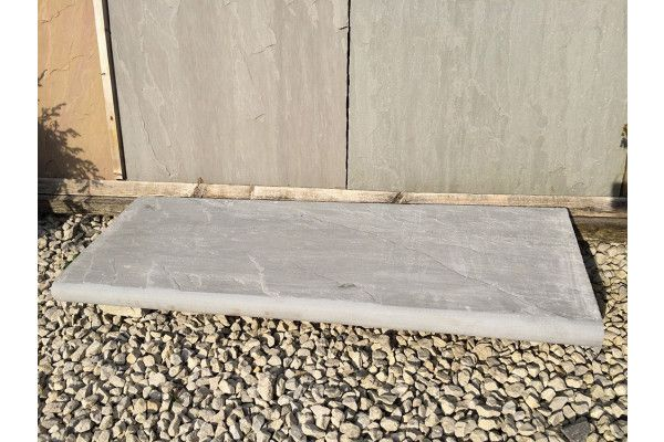 Indian Sandstone Bullnosed Steps and Corners - Riven Kandla Grey