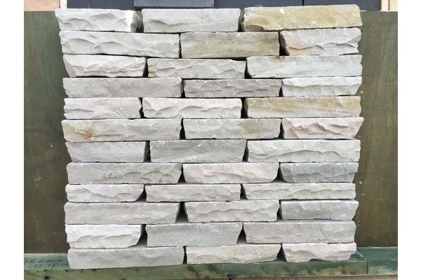 Indian Sandstone Walling - Hand Cut - Kandla Grey Blocks - (Individual Blocks)