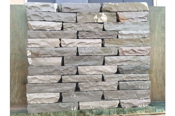 Indian Sandstone Walling - Hand Cut - Kandla Grey Blocks