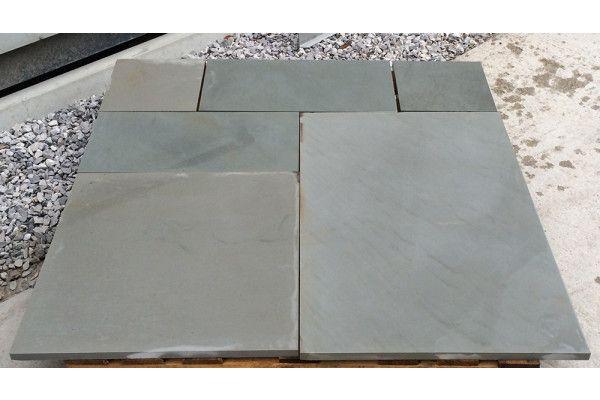 Indian Sandstone Paving - Polished Kandla Grey - Patio Packs