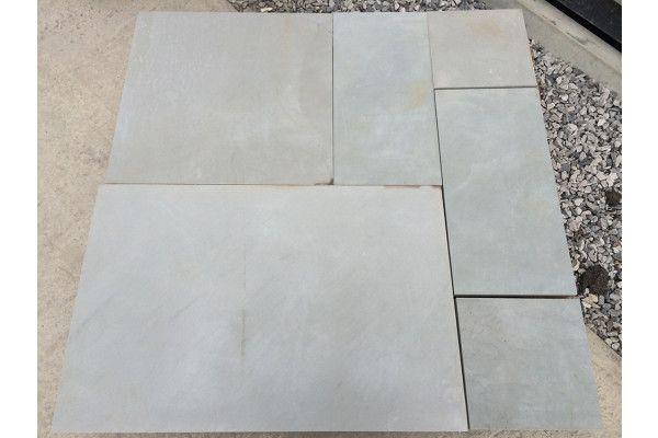Indian Sandstone Paving - Polished Kandla Grey - Patio Pack