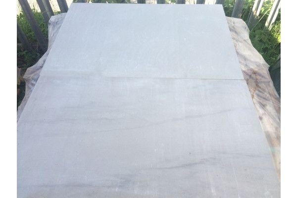 Indian Sandstone Paving - Polished Kandla Grey - 900 x 600mm - Slab