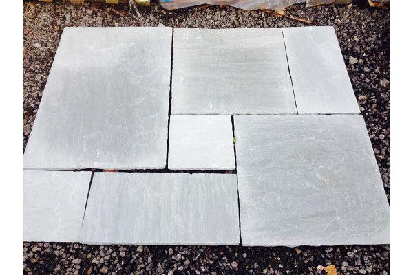 Castacrete - Indian Sandstone Paving - (Kandla) Grey - Patio Pack - Calibrated
