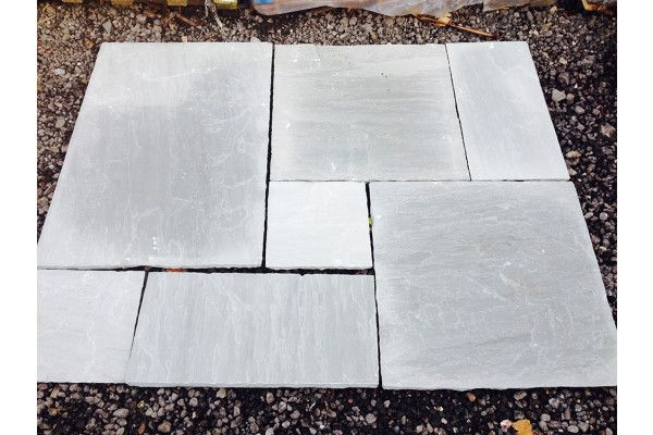 Indian Sandstone Paving - Kandla Grey - Calibrated - Patio Pack