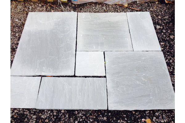 Indian Sandstone Paving - Kandla Grey - Single Sizes - Calibrated (Individual Slabs)