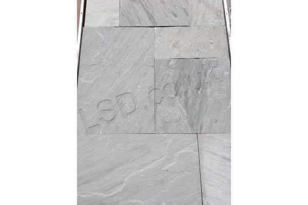 Indian Sandstone Paving - Sawn Kandla Grey - Patio Packs