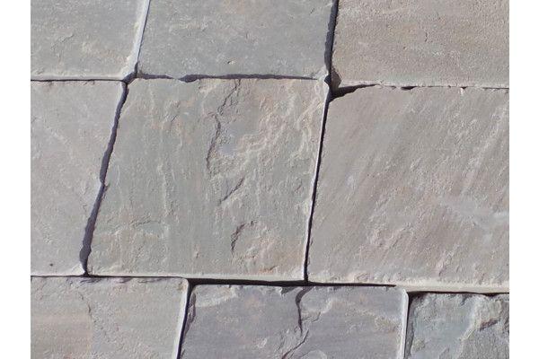 Indian Sandstone Setts - Tumbled Kandla Grey 2