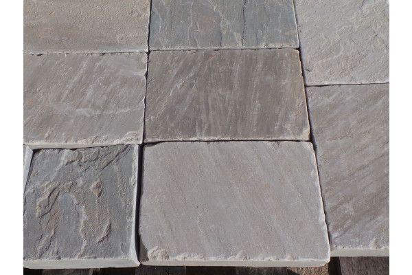 Indian Sandstone Setts - Tumbled Kandla Grey 3