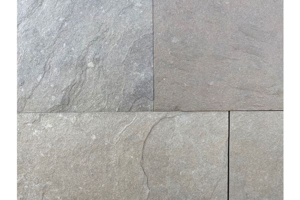 Indian Limestone Paving - Kurnool Grey - Calibrated - Single Sizes (Individual Slabs)