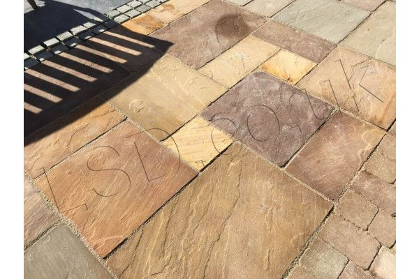 Indian Sandstone Paving - Lalitpur Yellow - Calibrated - Patio Pack