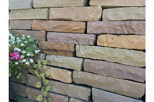 Indian Sandstone Walling - Hand Cut - Lalitpur Yellow Blocks - (Individual Blocks)