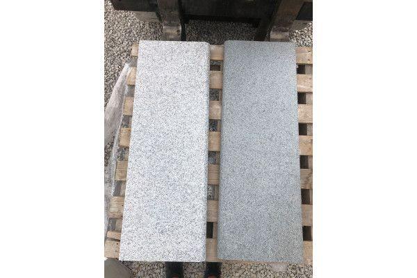 Natural Granite - Bullnosed Steps - Light Grey - 1000 x 350mm - Individual