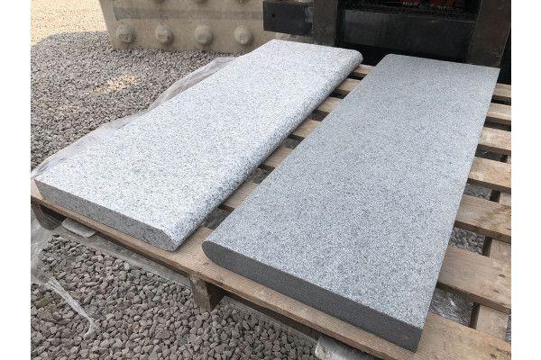 Natural Granite - Bullnosed Steps - Dark Grey - 1000 x 350mm