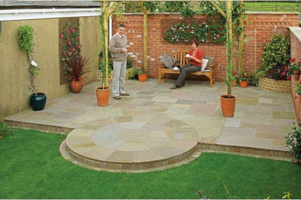 Marshalls - Fairstone Antique Alverno Garden Paving - Autumn Bronze Multi - Project Pack