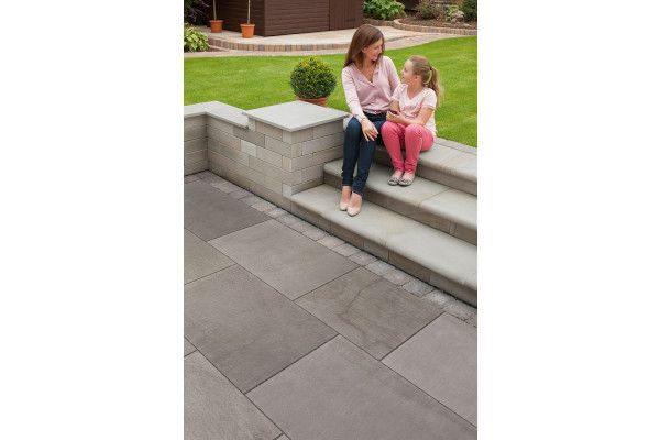 Marshalls - Fairstone Flamed Narias Garden Paving - Silver Birch - Project Pack
