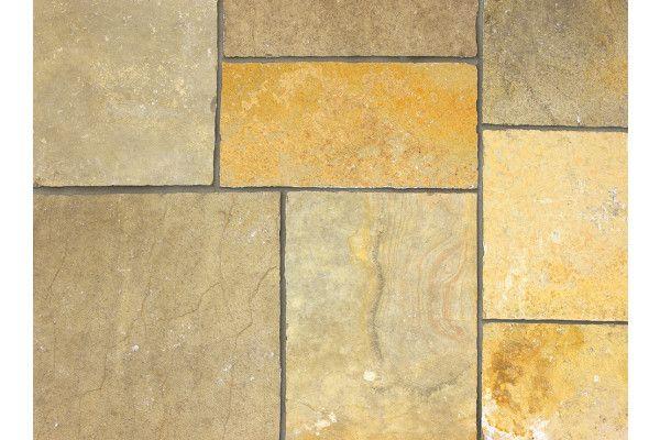 Marshalls - Fairstone Limestone Aluri Riven Garden Paving - Rustic Ochre - Single Sizes (Individual Slabs)
