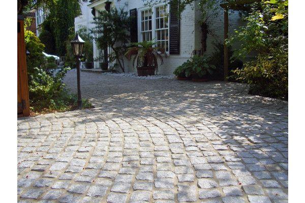 Marshalls Cropped Granite Setts Driveway - Silver Grey