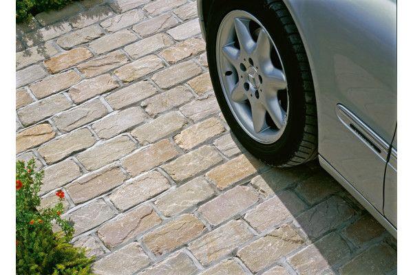 Marshalls - Fairstone Natural Stone Setts - Split and Tumbled - Autumn Bronze - Singles Sizes
