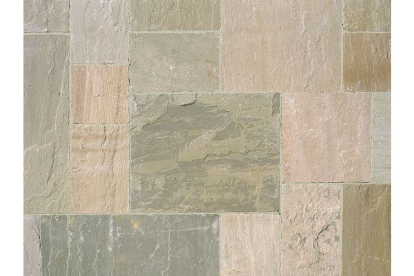 Marshalls - Fairstone Riven Harena Garden Paving - Sawn Edge - Autumn Bronze Multi - Single Sizes