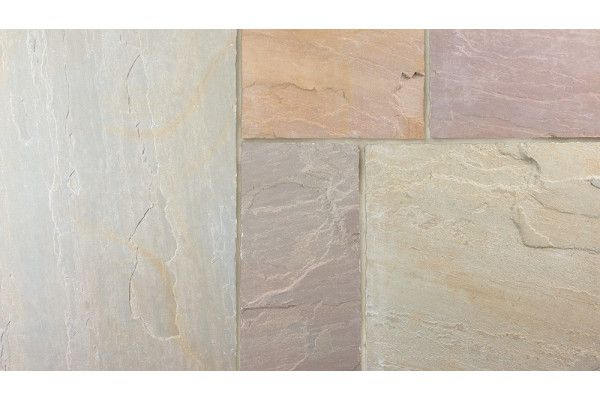 Marshalls - Fairstone Riven Harena Garden Paving - Sawn Edge - Autumn Bronze Multi - Project Pack