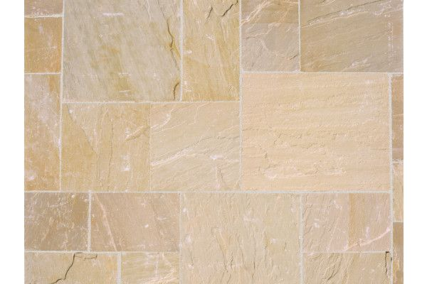 Marshalls - Fairstone Riven Harena Garden Paving - Golden Sand Multi - Single Sizes (Individual Slabs)