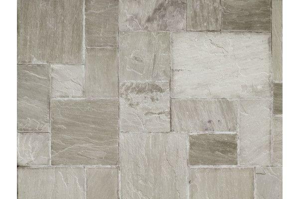 Marshalls - Fairstone Riven Harena Garden Paving - Sawn Edge - Silver Birch Multi - Single Sizes