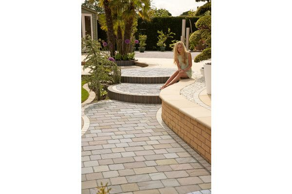 Marshalls - Fairstone Natural Stone Setts - Sawn and Tumbled - Autumn Bronze - 200 x 100mm - Individual