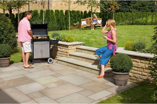 Marshalls - Fairstone Sawn Versuro Garden Paving - Autumn Bronze Multi - Single Sizes