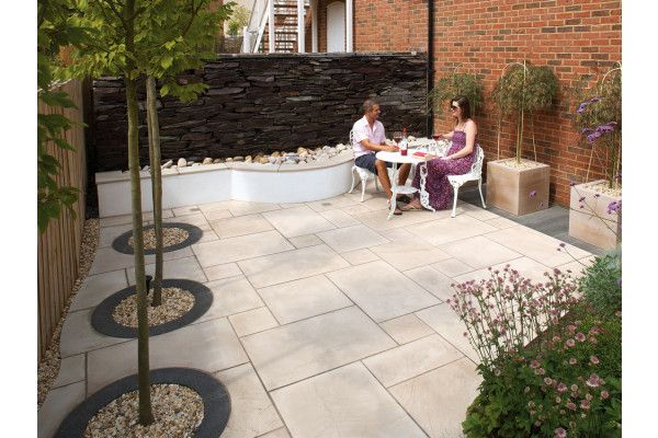Marshalls - Fairstone Sawn Versuro Garden Paving - Caramel Cream Multi - Single Sizes (Individual Slabs)