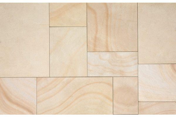 Marshalls - Fairstone Sawn Versuro Garden Paving - Golden Sand Multi - Single Sizes (Individual Slabs)