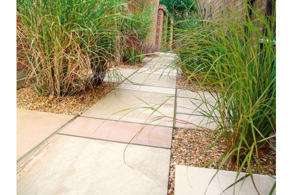 Marshalls - Fairstone Sawn Versuro Garden Paving - Golden Sand Multi - Single Sizes