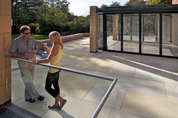 Marshalls - Fairstone Sawn Versuro King Size Garden Paving - Golden Sand Multi - Single Sizes