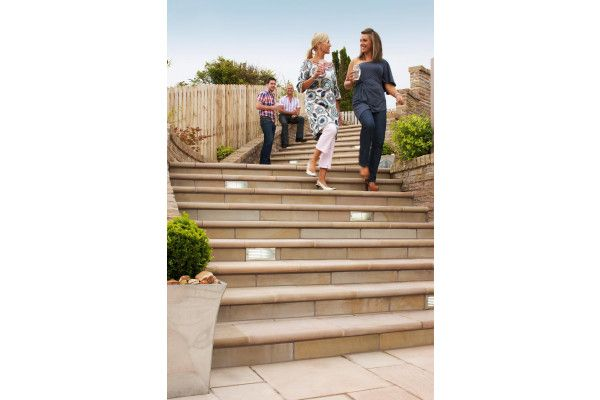 Marshalls - Fairstone Sawn Versuro Steps - Golden Sand (Individual Steps)