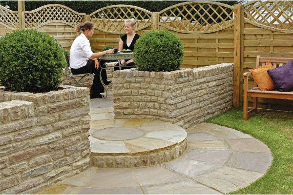 Marshalls - Fairstone Natural Stone Walling - Autumn Bronze - Pitched