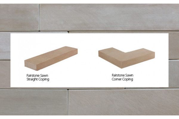 Marshalls - Fairstone Natural Stone Walling - Antique Silver Multi - Sawn - Copings (Individual Copings)