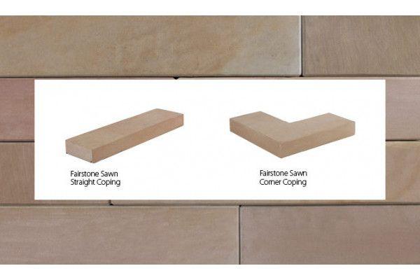 Marshalls - Fairstone Natural Stone Walling - Autumn Bronze Multi - Sawn - Copings