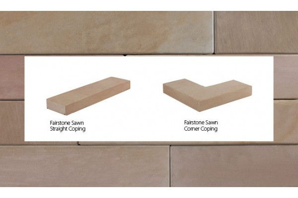 Marshalls - Fairstone Natural Stone Walling - Autumn Bronze Multi - Sawn - Copings (Individual Copings)