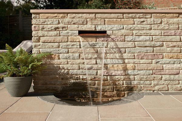 Marshalls - Fairstone Natural Stone Walling - Autumn Bronze - Tumbled