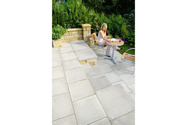 Marshalls - Perfecta Paving - Natural - Pressed Concrete - 450 x 450mm - Individual