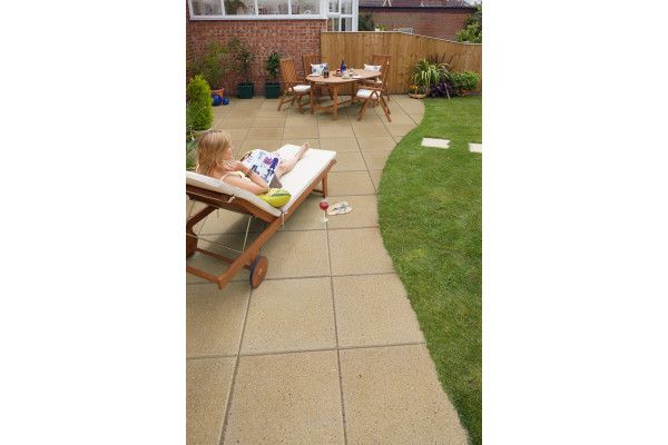 Marshalls - Perfecta Paving - Buff - Pressed Concrete - 450 x 450mm - Individual