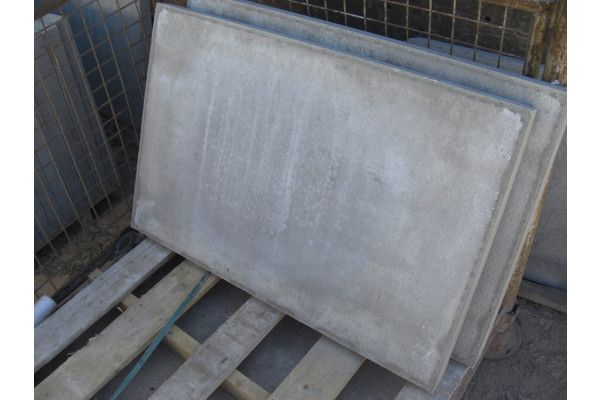 Thick Council Paving Slabs - Pressed Concrete - Grey
