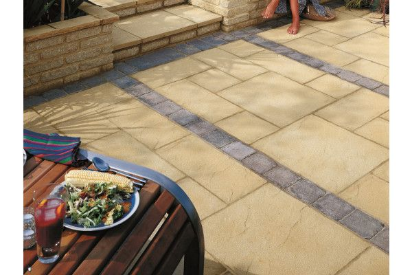 Marshalls - Regent Paving - Buff - Pressed Concrete - Single Sizes (Individual Slabs)