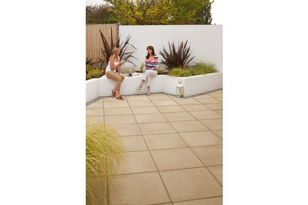 Marshalls - Saxon Paving - Buff - Pressed Concrete - Single Sizes (Individual Slabs)