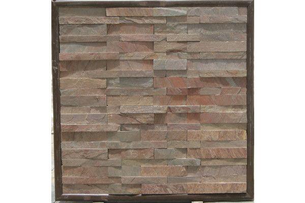 Strata Stones - Meridian Wall Cladding - Split - Copper - 600 x 150 x 10-30mm