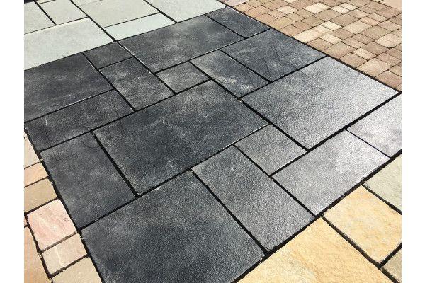 Indian Limestone Paving - Midnight Kota Black - Calibrated - Patio Pack (Split Pack)